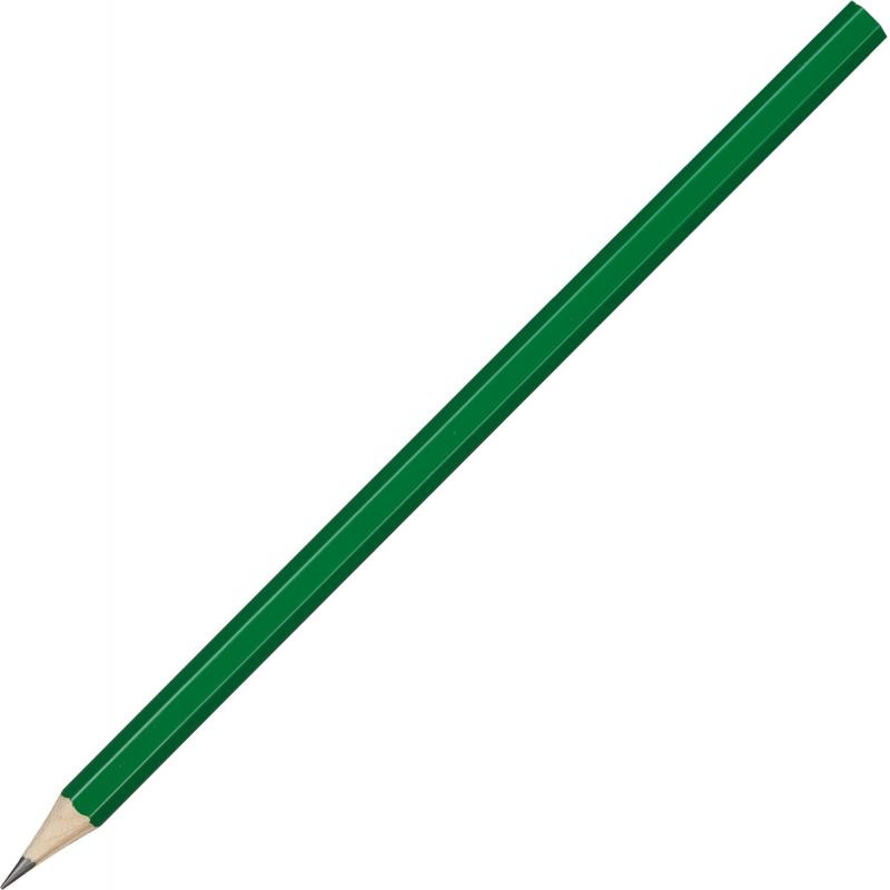 Карандаш чернографитный Attache, 177 мм шестигр., HB, зелен.корп. под лого