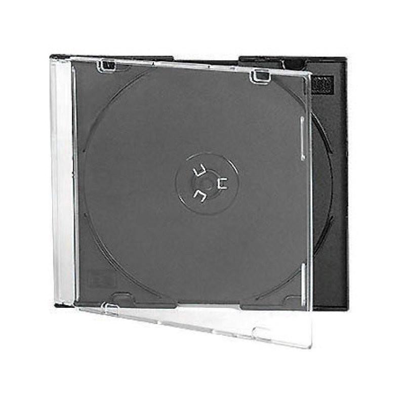 Бокс для CD/DVD дисков Slim Box, 5 шт, VS, прозрачно-черный, CDB-sl5