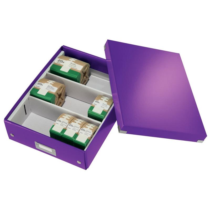 Короб органайзер Leitz Click & Store, М, фиолетовый