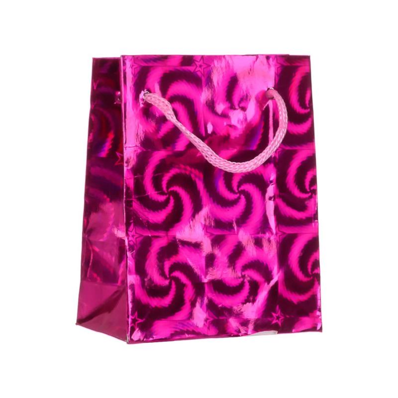Пакет подарочный бумаж.,голография,крупный рис.в ассорт.,8x10x4 см.,МС-1438