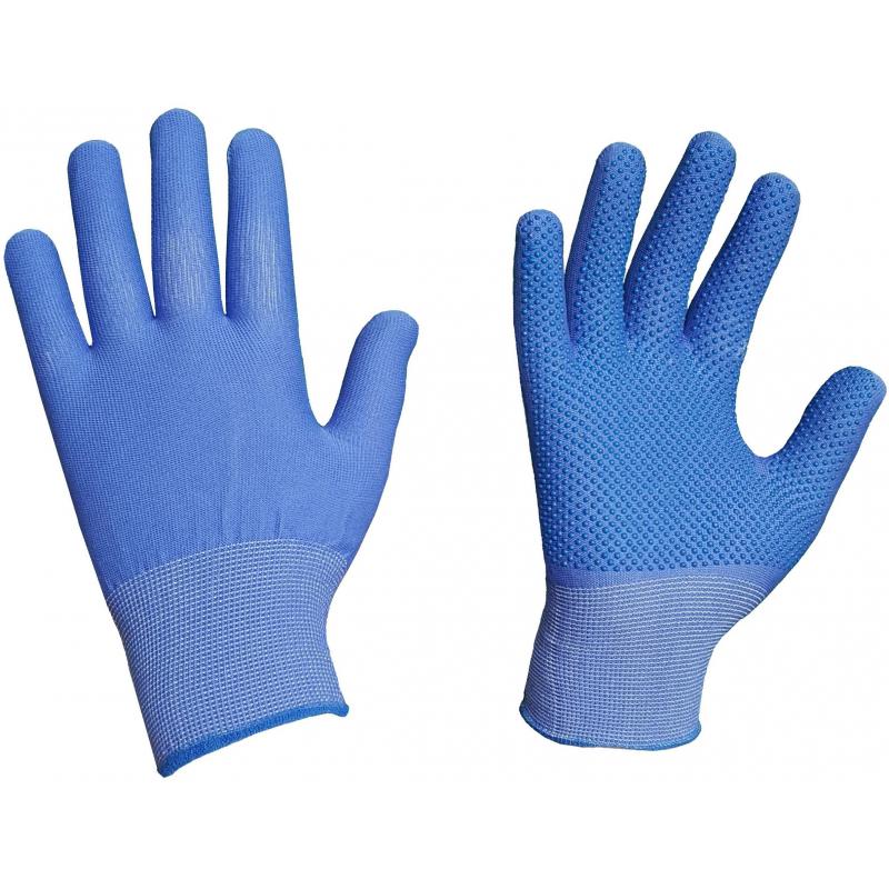 Перчатки защитные нейлоновые с ПВХ (р.9/11)