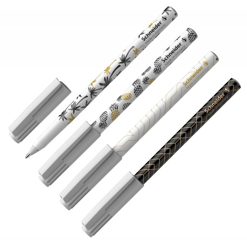 Ручка шариковая Schneider Tops 505 F Light  Tropical, корп.ассор,син 151500