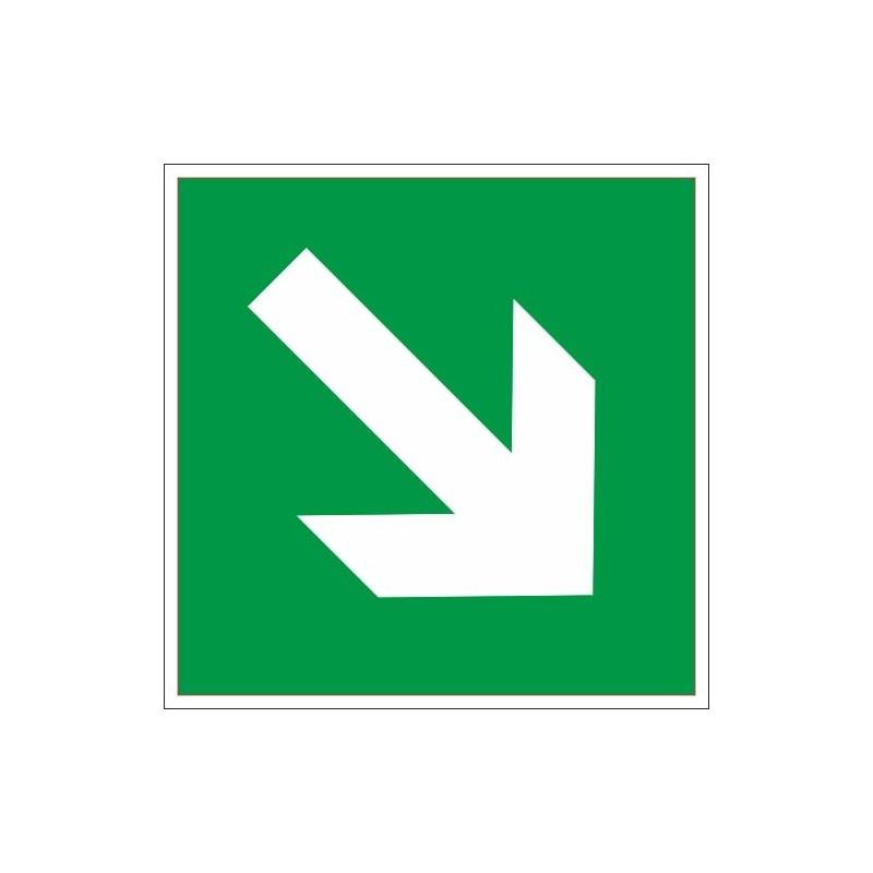 Знак безопасности E02-02 Направл.стрелка 45град (плёнка,200х200)