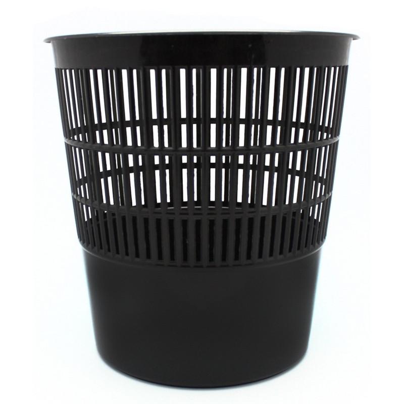 Корзина для мусора 10 л пластик, черная эконом