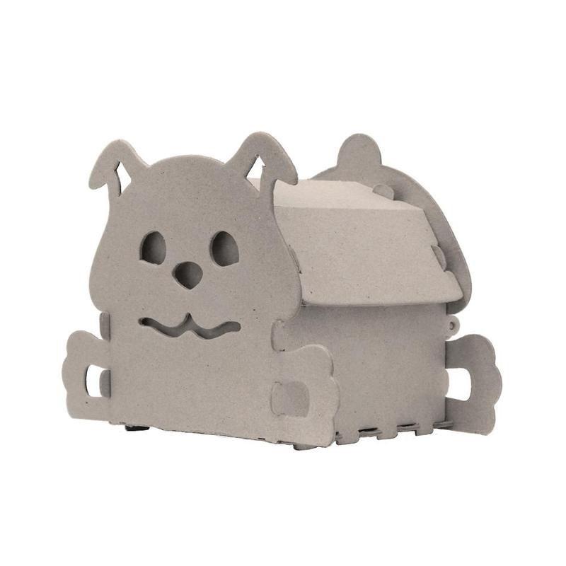 Набор для творчества сборный картонный домик для раскрашивания, Собачка