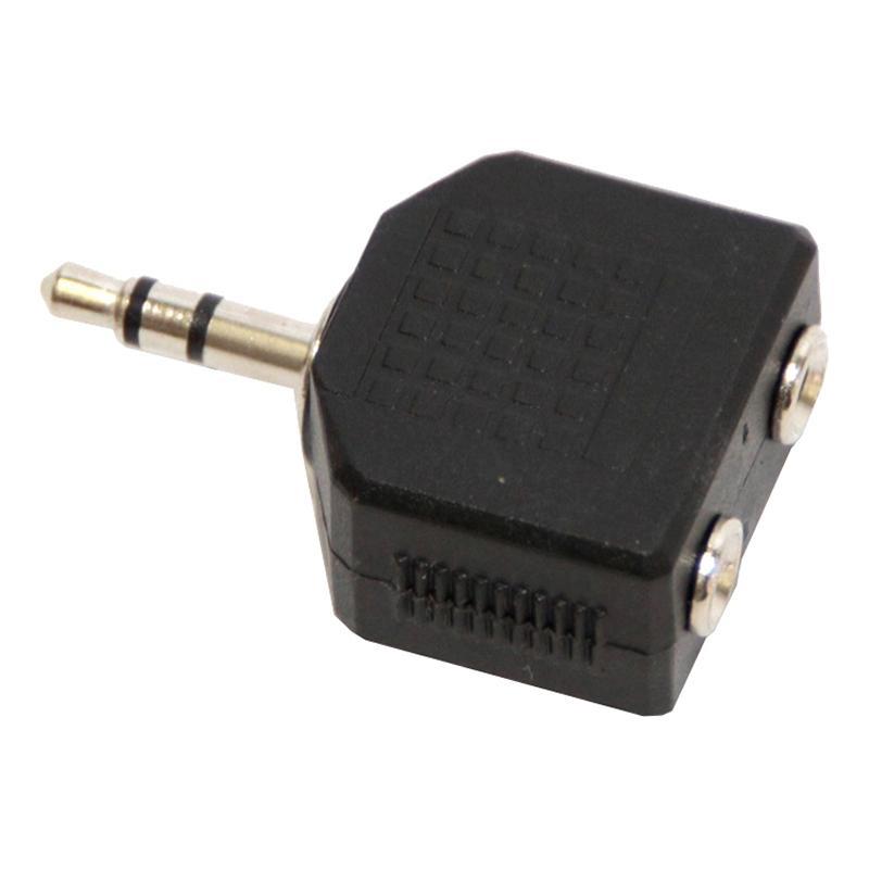 Переходник 2 х Jack 3.5 - Jack 3.5, F/M, 5bites, чер, AA-3MF2-01