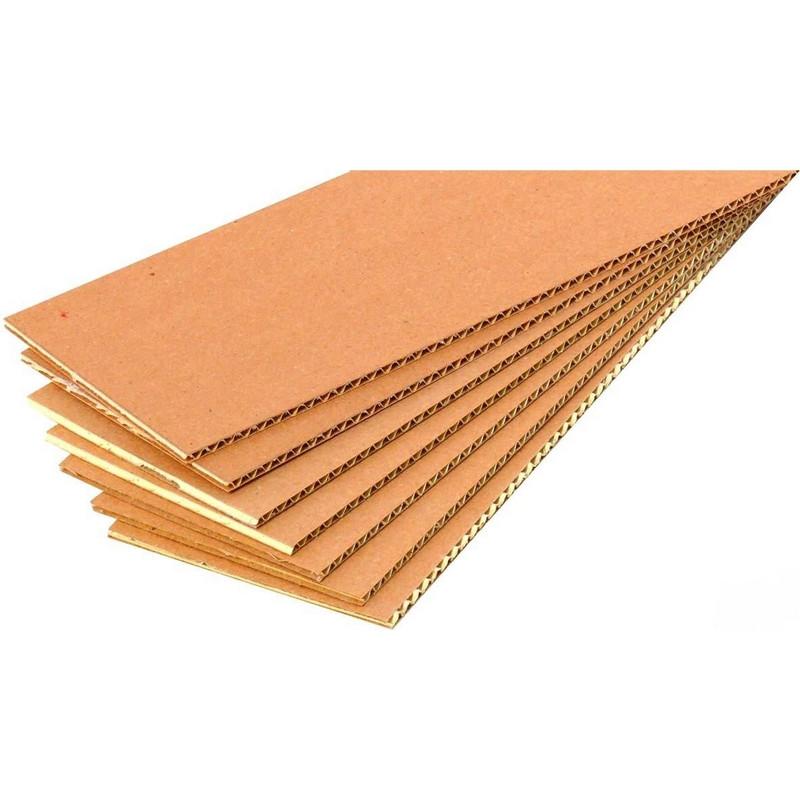 Гофролист картонный  400x600 Т21, профиль В, бурый