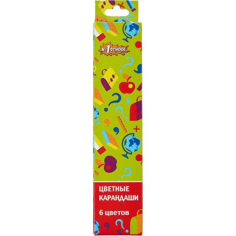 Карандаши цветные Отличник 6 цв 6-гран. Россия