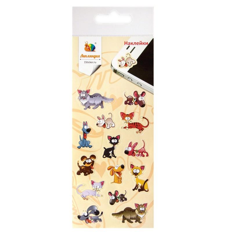 Наклейки декоративная бумажная Кошки и Собаки 1 70х160