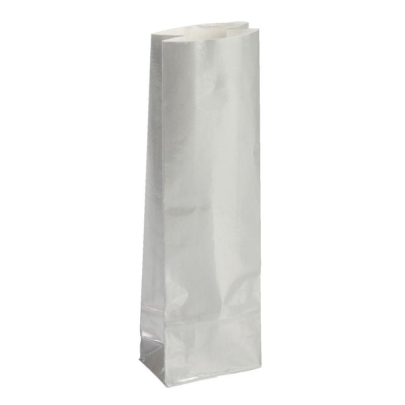 Пакет бумажный фасовочный, глянцевый, серебро, 5,5х3х17см 20шт/уп 4251112