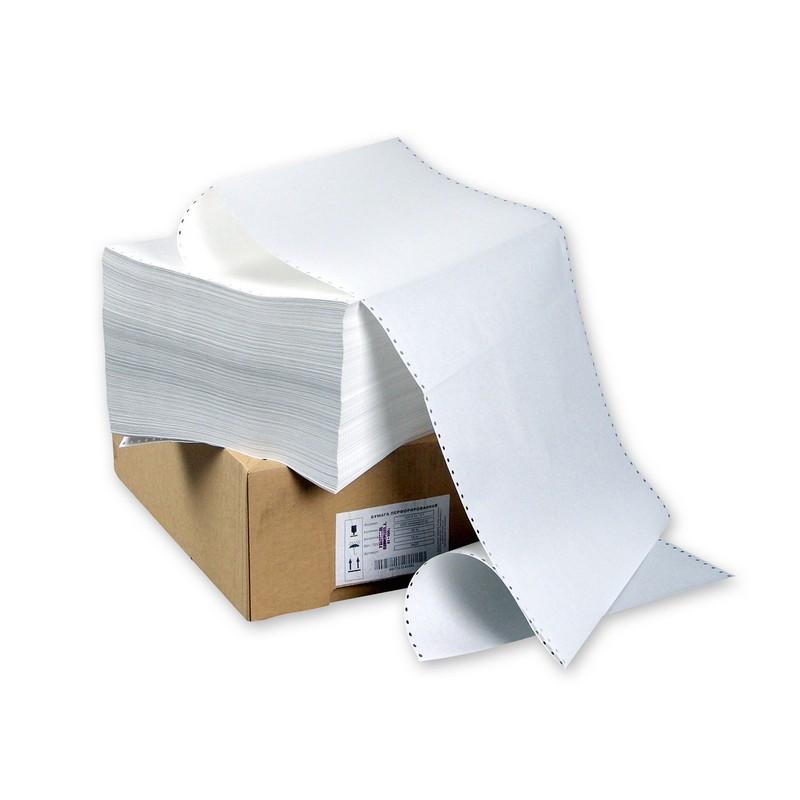 Перфорированная бумага Promega 420мм 1-сл.,шаг12 ,бел.100%,НП, 2000л/уп
