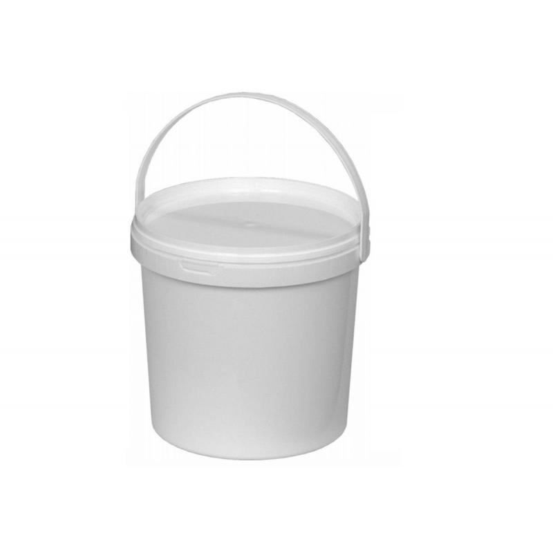 Ведро п/п 2,25л круглое белое с белой крышкой