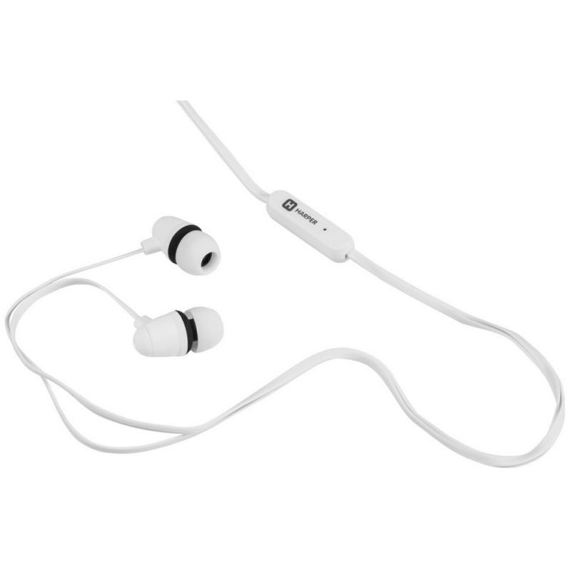 Наушники HARPER HV-105 с микрофоном белые