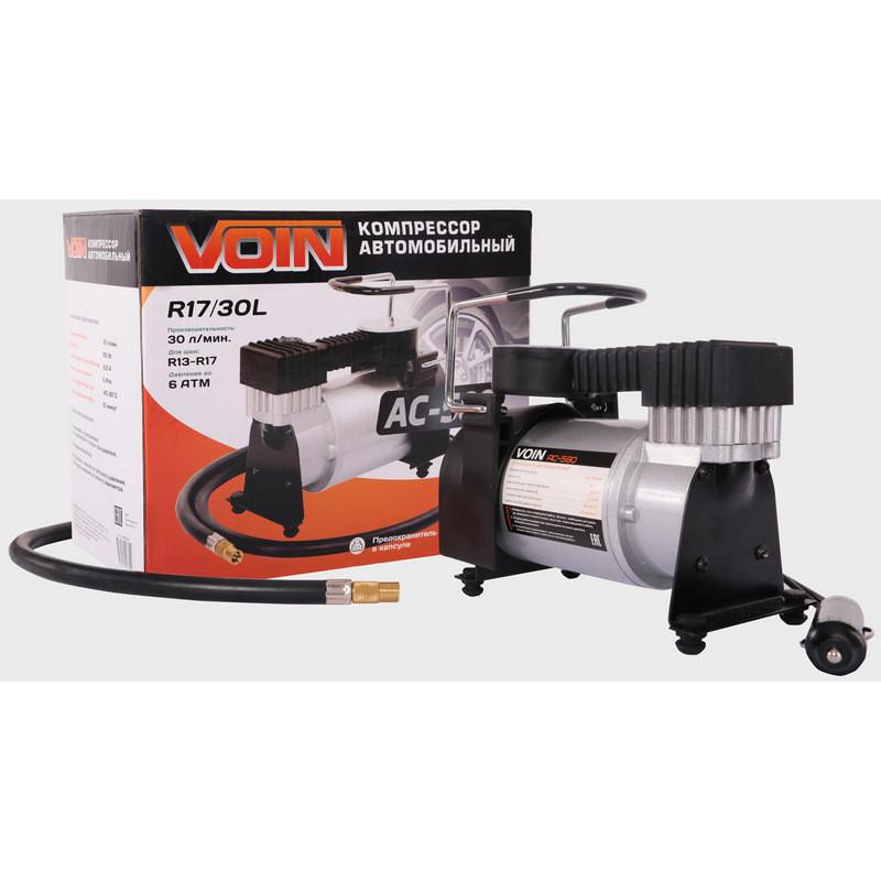 Компрессор автомобильный 160Вт, 30л/мин, VOIN AC-580 (KOM00101)