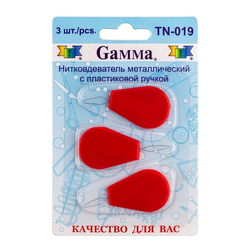 Набор нитковдевателей с пластиковой ручкой Gamma, 3 шт в блистере, TN-019