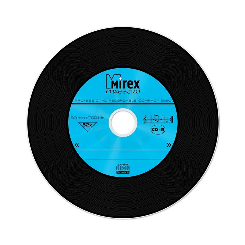 Носители информации CD-R, 52x, Mirex Maestro, Slim/5, UL120120A8F