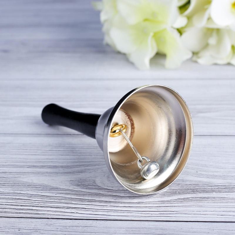 Колокольчик настольный Shine, серебряный, 12х6,5см арт.431261
