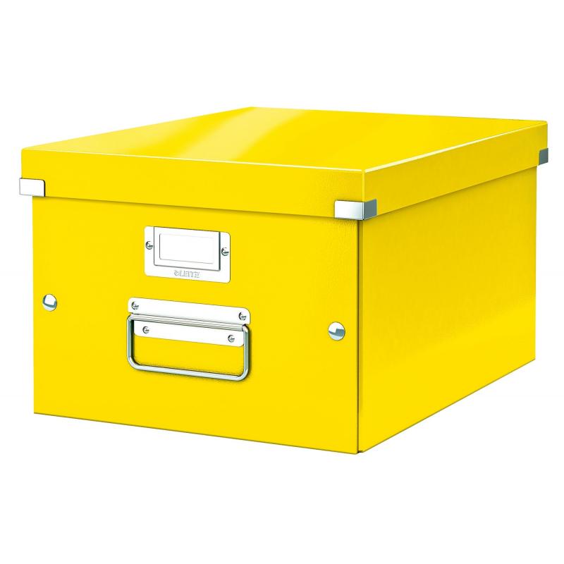 Короб Leitz Click & Store, короб M (A4), желтый 60440016