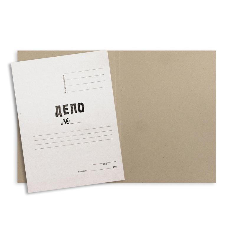 Папка-обложка ДЕЛО 280г/м2 немелованная 200 шт/уп