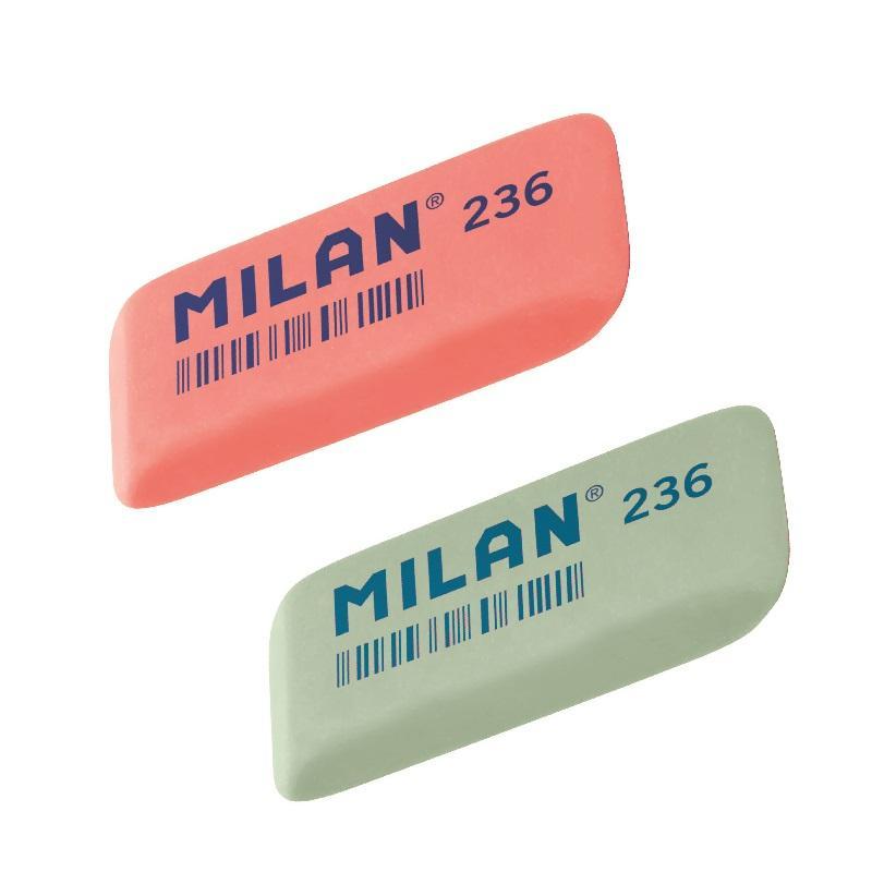 """Анонс-изображение товара ластик milan """"236"""", скошенный, пластик, 56*19*9мм, 973207"""