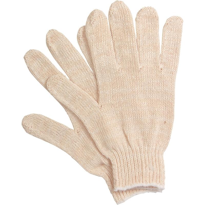 Перчатки защитные трикотажные Эконом без ПВХ 2 нити 18г 7класс