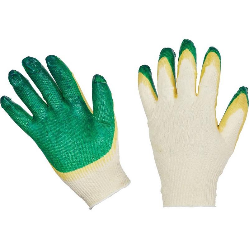 Перчатки защитные трикотажные с двойной латексной заливкой 13 класс