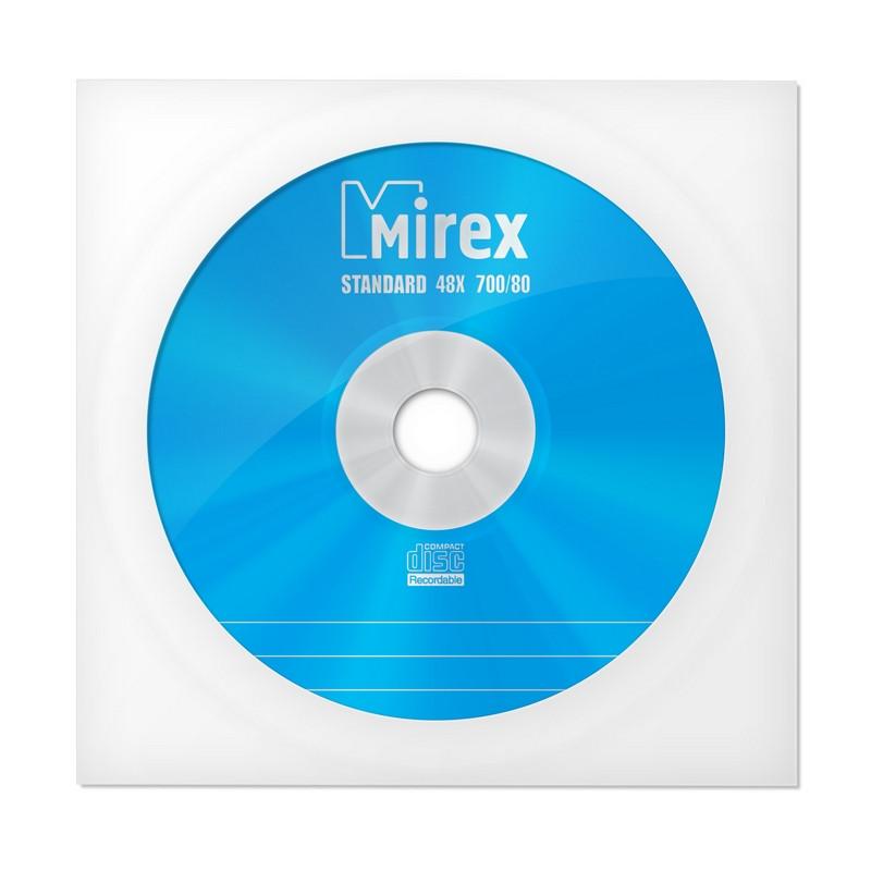 Носители информации CD-R, 48x, Mirex Standard, конверт/1, UL120051A8C